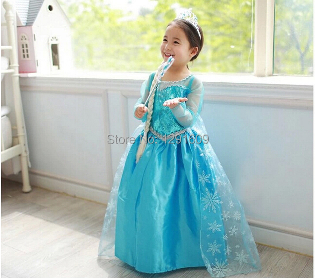 Aliexpress.com : Buy 2015 Hot Sale Anna Elsa Dress Snow Queen ...
