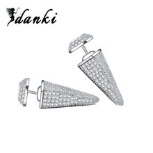 Danki Featured Brand New Jewelry Female Stud Earrings Stylish Cubic Zirconia 925 Sterling Silver Earrings for Wedding Bridemaid