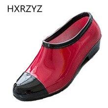 Frauen wasser schuhe Frühjahr/herbst und sommer halbschuhe weibliche rutschfeste mode gummistiefel regen schuhe vielzahl von farbe regen stiefel