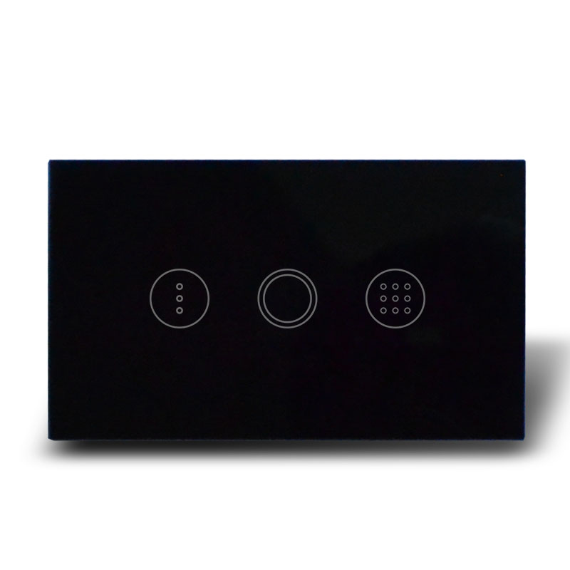 US Model Black Glass Touch Panel Light Time Delay Wall Switch, AC110-240V, 1 Gang 1 Way Touch Timer Switch+Blue LED indicator 2017 smart home crystal glass panel wall switch wireless remote light switch us 1 gang wall light touch switch with controller