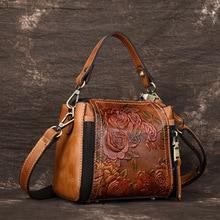 Women Messenger Shoulder Top Handle Genuine Leather Bags Luxury Ladies Cross Body Tote Handbag