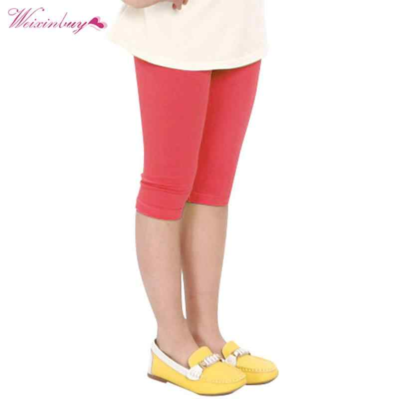 48ed39280 ... WEIXINBUY Baby Kid Girl Candy Color Cotton Stretch Skinny Leggings  Casual Capris Pant 2-7Y ...