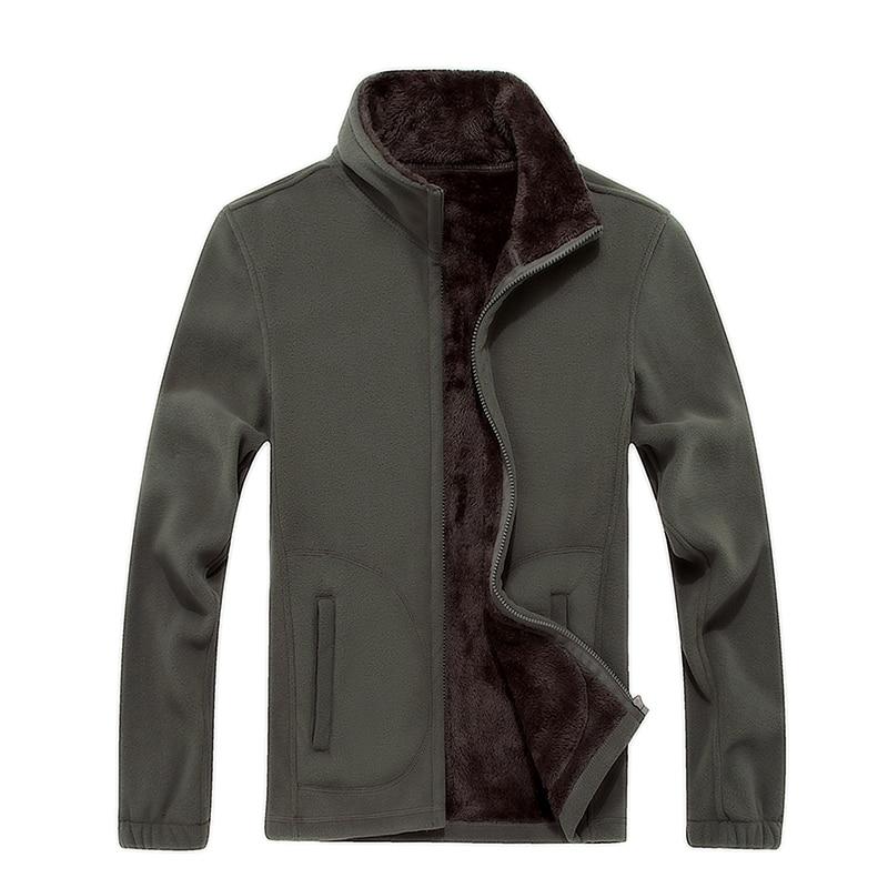 6XL 2016 New Mens Softshell Fleece Casual Jackets Men Warm Sweatshirt Thermal Coats Solid Thickened Brand
