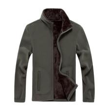 6XL 2016 Neue Herren Softshell Fleece Casual Jacken Männer Warme Sweatshirt Thermische Mäntel Solide Verdickt Marke Kleidung SA041