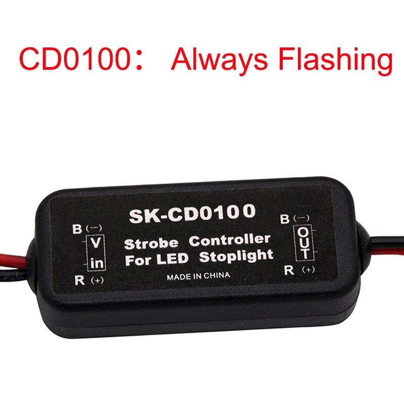 SUNKIA Mais Novo Controlador de Flash Strobe Módulo Flasher para LED Brake Parar Lâmpada Luz GS-100A 9-1 30V Atacado pçs/saco