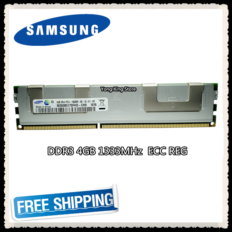<font><b>Samsung</b></font> Server memory <font><b>DDR3</b></font> 4GB 8GB 1333MHz <font><b>ECC</b></font> <font><b>REG</b></font> Register DIMM PC3-10600R RAM 240pin 10600 4G image