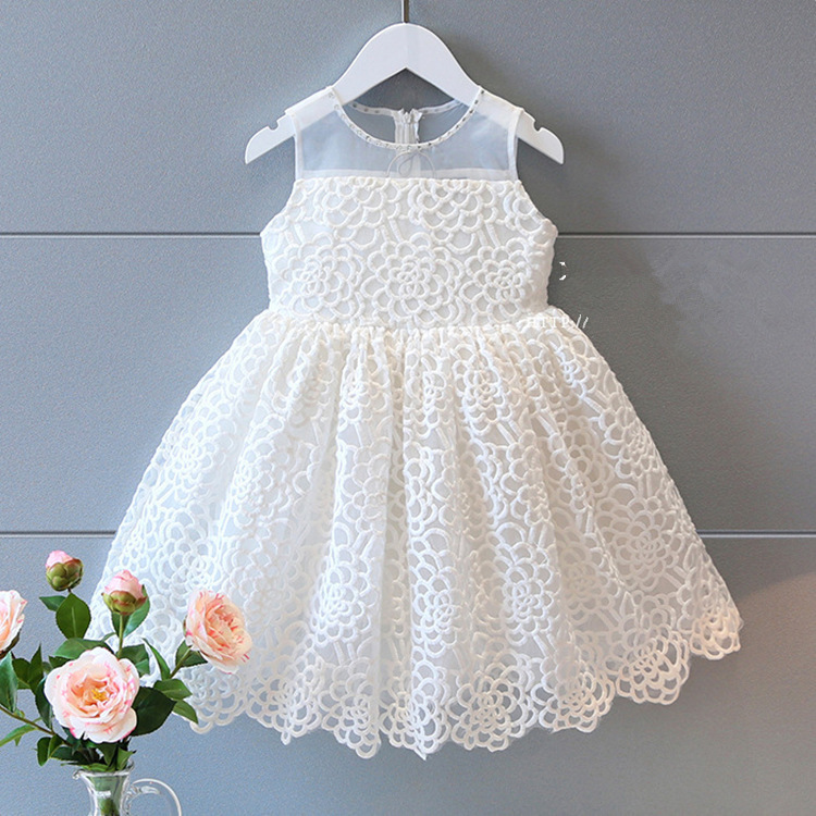new girl dress 2018 Korean Three-dimensional embroidery rose princess dress childrens dr ...