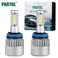 COB Chips 72W 8000Lm H4 H7 H11 H13 9005 9006 Plug Car Led Headlight Front Light
