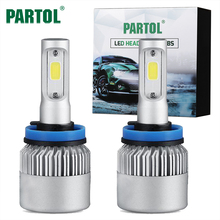 Partol Headlight H4 H7 H11 H1 H3 9004 9005/HB3 9006/HB4 9007 LED Bulbs Car Headlamp Kit 72W 8000LM Auto Fog Lamp Light H 4 7 11