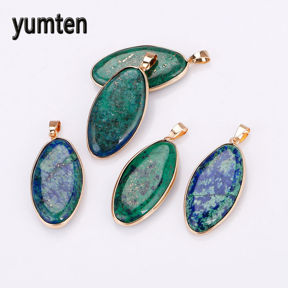 9d65209a30fee US $8.9 |Yumten Lapis Lazuli Pingente Peacock Green Gemstone Crystals  Jewelry Collares Mujer Necklace Women Juwelen Ouro 18k verdadeiro-in  Pendants ...