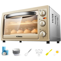 Electric Home Mini Oven Multi purpose 25L Domestic Ovens with Double Heating Tube Grills Bakes and Roasts Kitchen Appliance