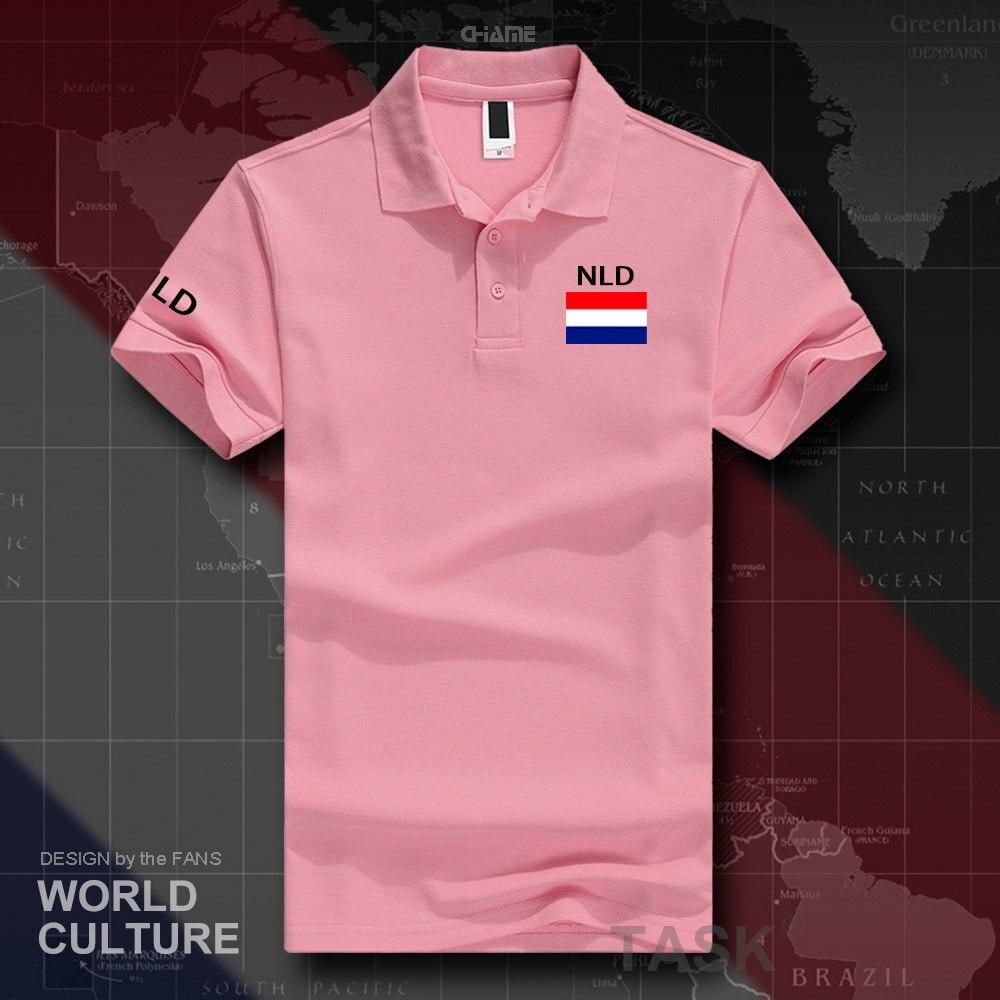 Netherlands Dutch polo shirts men short sleeve white brands printed for country 2019 nation team flag Nederland Holland NLD NL 5