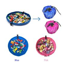 37cm Portable Kids Toy Storage Bag and Play Mat Toys Organizer Bin Box Fashion Practical Storage
