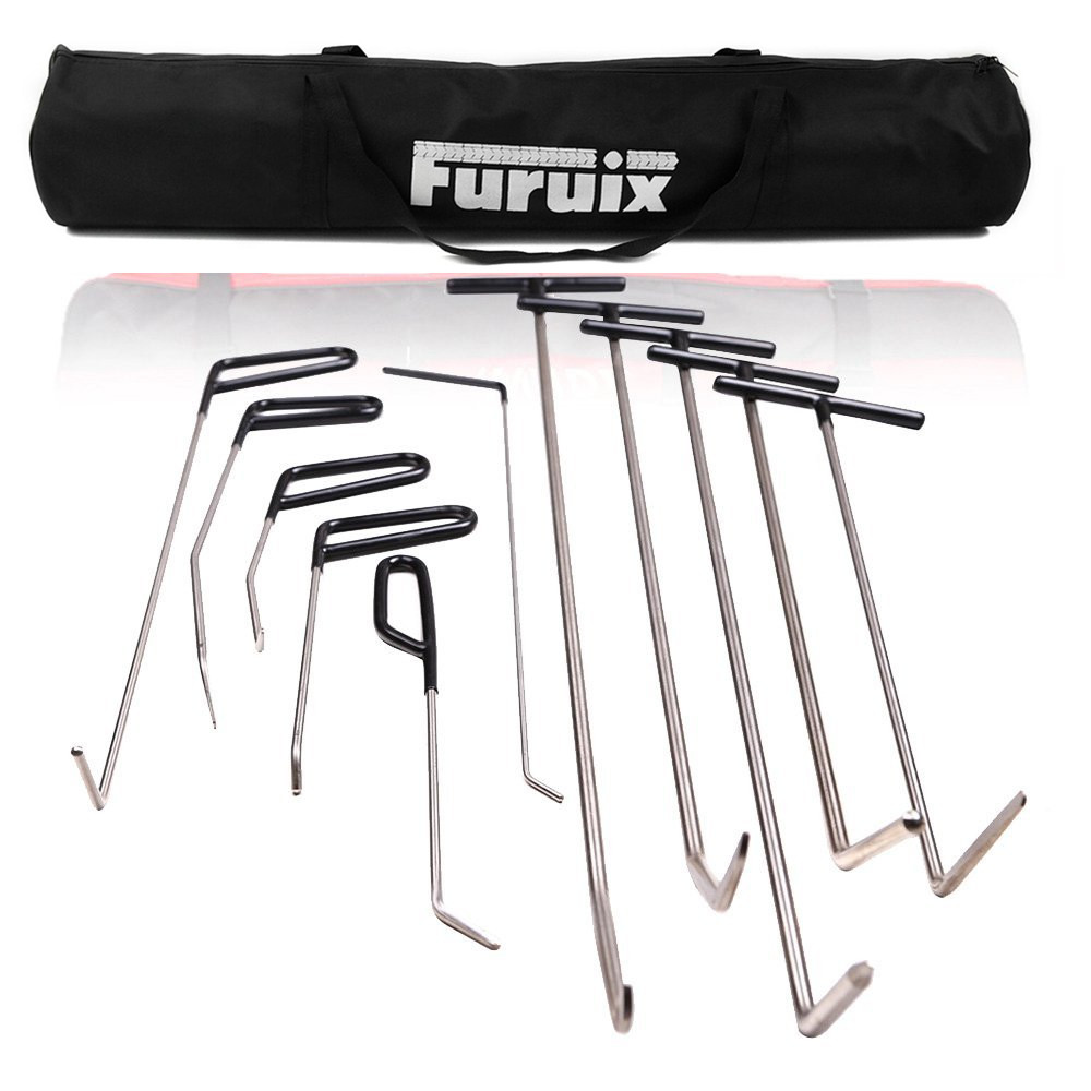 Furuix PDR Rod Dent Removal Tools PDR Tool Paintless Hail Removal Dent Auto Car Ding Dent Repair Kit Rod Hammer цена