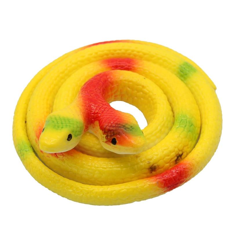 70CM Simulation Novelty 1Pcs Snake Terrifying Toy Rubber Snakes April Fools' Day Tricky Snake Rattlesnake Funny Scary Toys