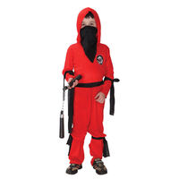 Red Ninja Kids Child Halloween Costume Boy S Fancy Cosplay Party Dress Up