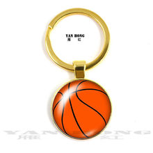 Fashionable and popular basketball, football, rugby, baseball, hand-made 25MM key chain, beautiful pendant(China)