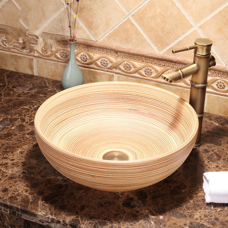 Ceramic porcelain China Painting wash basin Bathroom vessel sinks toilet  bowls and basin ceramic washbasin