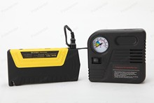 high quality booster power battery charger mobile phone laptop  12v Portable mini jump starter10000mAh car jumper with pump 2USB
