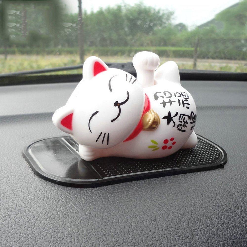 Cute Lucky Cat Car Ornament Shake Hand Sleep Lazy Cat Car Interior Decorations Car Decor Home
