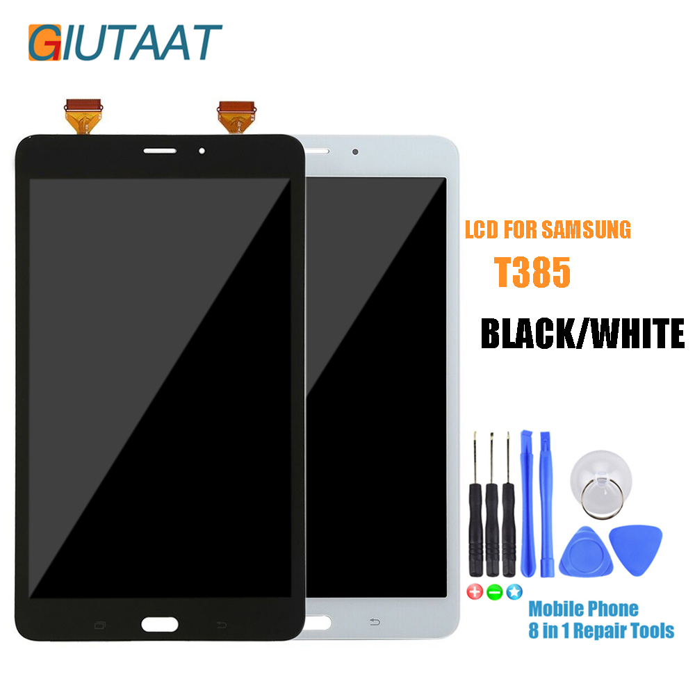 Siyah/Beyaz Samsung Galaxy Tab Bir 8.0 SM-T385 T385 lcd ekran dokunmatik ekran digitizer Cam Panel MeclisiSiyah/Beyaz Samsung Galaxy Tab Bir 8.0 SM-T385 T385 lcd ekran dokunmatik ekran digitizer Cam Panel Meclisi