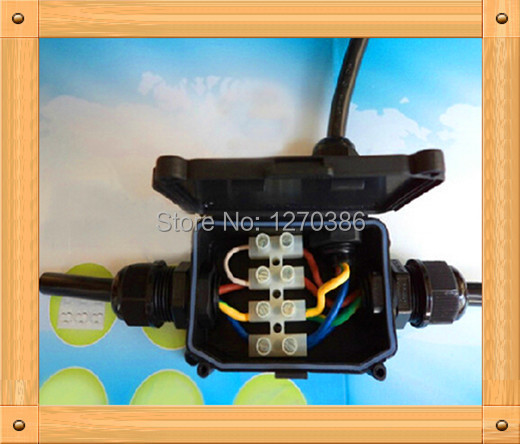 Free Shipping!!! Waterproof junction box / cassette waterproof wiring terminals / a into two