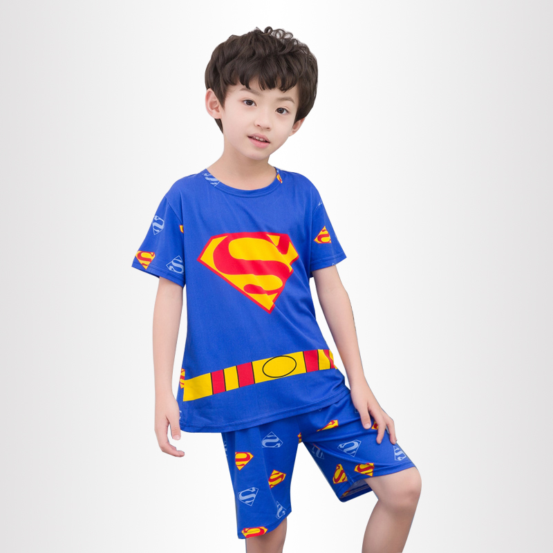 цена на Pajamas for girls Summer kid's home clothes boys cute cartoon short sleeved Shorts sleepwear Children's Day gift 2018 new style
