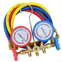 With 1/4'' SAE Hose Various Combinations R134a R12 R22 R404a A/C Manifold Gauge Set For Household/Automobile Air Conditioning