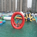 inflatable hot wheel or wind-fire rings playing on the water 2.2*1.8*2.2 M water game in summer