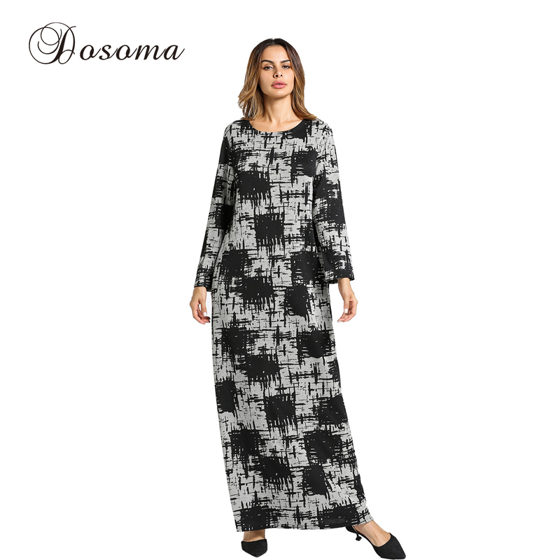 Fashion Women's Dress Knitted Cotton Winter Maxi Abaya Robe Gowns Long Jilbab Muslim Loose Style Middle East Islamic Clothing women s maxi dress winter abaya striped robes loose style thickening knitted cotton jilbab muslim middle east islamic clothing