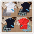 Children Brand,new 2016,summer,boy clothing set,newborn,baby boy clothes,baby wear,kids clothes sets,t-shirt+pants suit 2T-5T