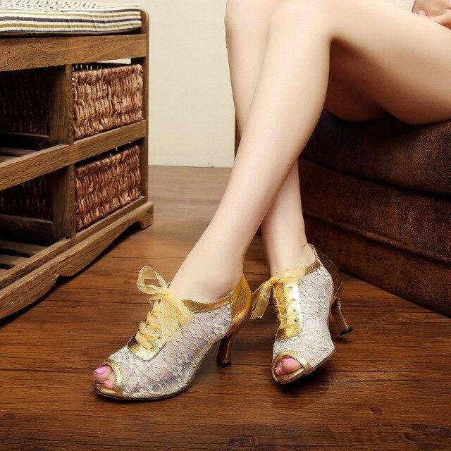 style unique en ligne prix modéré € 21.14 20% de réduction Respirant dentelle dames Salsa Kizomba Samba Tango  chaussure de danse femme/fille latine chaussures de danse de salon sandale  ...
