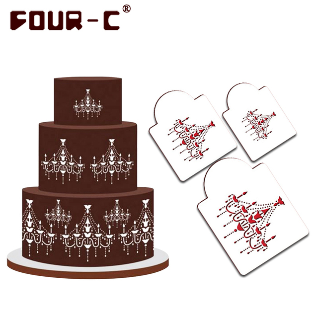 Chandelier cake stencils christmas cookie and coffee stencils cake chandelier cake stencils christmas cookie and coffee stencils cake mold cupcake cake decorating tools pastry tools aloadofball Image collections