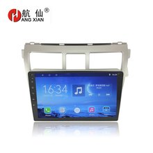 Bway 9 2 din Car radio for Toyota Vios 2009-2013 Quadcore Android 7.0.1 car dvd player gps navi with 1 G RAM,16G ROM