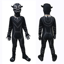 Black Panther Costumes For Kids Israel Childrens day Boys Marvel Movie Cosplay Costume Civil War spandex