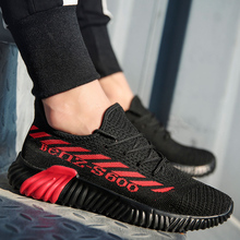 2019 Air Mesh Sneakers Men Summer 35~45 Fly Couple Weave Casual Shoes Women Lace Up Shoe Man Breathable Flats Hombre 1506