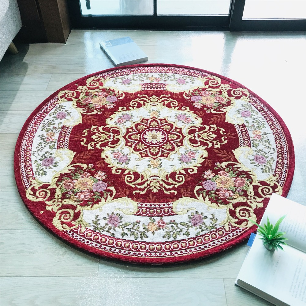 Round Carpet Bedroom Entrance Doormat Computer Chair Round Rug Classic Design Rugs And Carpets For Home Living Room Kids Mat