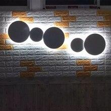 Современные бесплатные комбинации светодиодные настенные лампы для спальни гостиная кухня светодиодный настенный светильник столовая лестницы Настенный бра Чердачный, потолочный