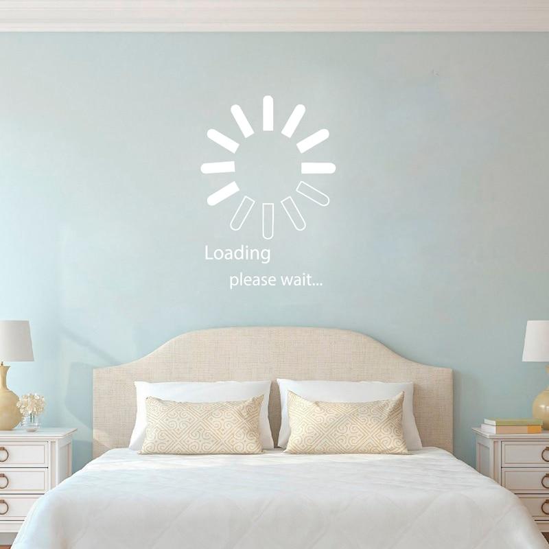 Loading Pleas Wait Wall Art Decal Bedroom Decoration