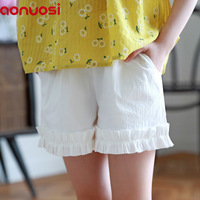 2018 New Product Summer Wear Girl Children S Garment Shorts Child Leisure White Time Pants Princess