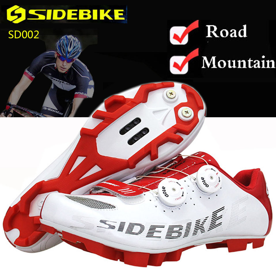 Sidebike Cycling Shoes Mountain Road MTB Breathable Bike Shoes Men Women SPD Self-Locking Racing Superfine Fber Bicycle Shoes sidebike mtb bike shoes carbon fiber cycling shoes men breathable non slip self locking road bike shoes bicycle sneaker shoes