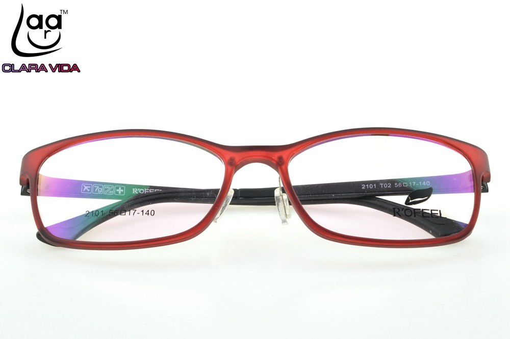 f76402ff258 ONLY 7G Large Red TR Ultra Light Memory Nerd Glasses Frame Custom ...