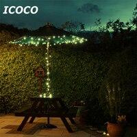 ICOCO 17 M 100 Led Solar Powered Valla Del Jardín Del Banquete de Boda de Hadas de Cadena de Luz Al Aire Libre Decoración Impermeable Al Por Mayor de la Venta
