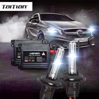 2Pcs 12V Xenon H7 6000k 55W Super White Hid Ballast Xenon Kit Headlight H1 H3 3000K
