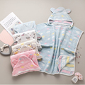 Детское полотенце-накидка, хлопковый Халат, 6 слоев, газовое детское полотенце, милое банное полотенце с капюшоном для мальчиков и девочек, ...
