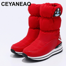 CEYANEAO 2018 New arrivals waterproof thick plush women winter Ankle sh