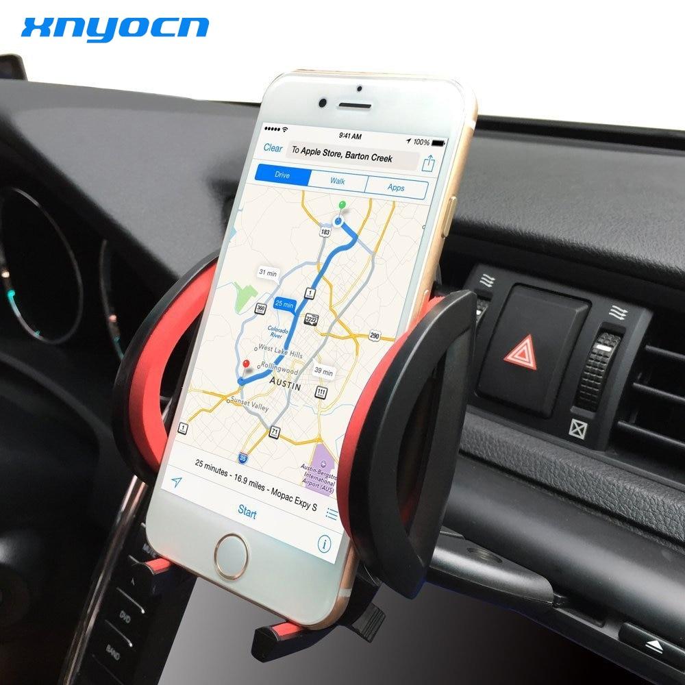 Universal CD ranura de coche de teléfono celular titular para el iPhone se 6  S 7 Plus para Samsung Galaxy S7 borde teléfono Móvil soporte GPS Soportes 8f8e9aca18b6