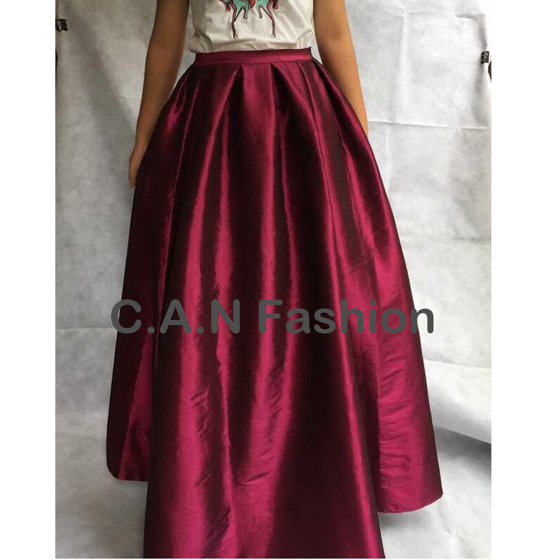 4xl 5xl Blue 118cm Length Long Maxi women summer skirts faldas High Waist Pleated womans Jupe Female Clothes floor length skirt