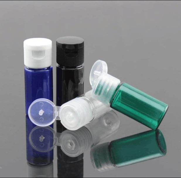 10ml blue Brown Green Plastic Bottle Crystal Clear Originales Refillable Flip Top Cap Perfume Water Empty Packaging Bottle