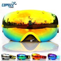 New Brand COPOZZ Ski Goggles Double Lens Anti Fog Spherical Professional Ski Glasses Unisex Multicolor Snow